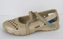 Skechers women's shoes rubber Mary Jane walking work water cream size 7 - $15.70