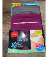 Hanes ~ Women's Bikini X-Temp Underwear Panties 3-Pair Cotton Blend ~ 7/L - $13.09