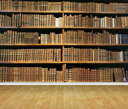 Library Books Shelf Wall Art Wall Mural Backdrop Self Adhesive Vinyl Wallpaper 1 - $43.11+