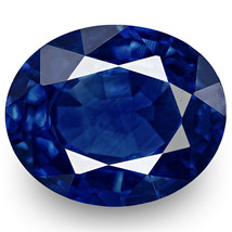 IGI Certified NIGERIA Blue Sapphire 0.54 Cts Natural Untreated Oval - $878.00