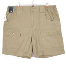 Roundtree & Yorke Mens Shorts Cargo Classic Fit Size 38 Khaki Beige Tan - $39.35