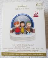 Hallmark Peanuts Gang Ho! Ho! Ho! Tasty Snow Magic Cord 2011 Ornament - $25.95