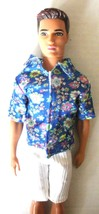 NEW FOR KEN WHITE SHORTS AND SHIRT CLOTHES FIT CONTEMPORARY KEN - $3.95