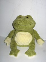 "Ty Beanie Baby Plush Charm Green OffWhite Frog with Crown Bean Bag 12"" 2006 - $8.55"