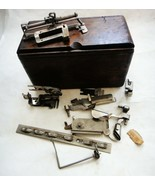 1889 antique SINGER WOOD SEWING MACHINE BOX w/ACCESSORIES prim,folding,v... - $84.95