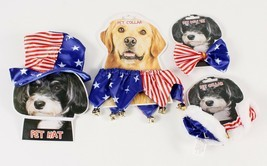 Patriotic Pet Dress Up Costumes Red White and Blue - £3.87 GBP