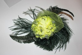 One ostrich small hat fascinator designed by African ostrich industry - $23.62