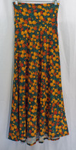 Women's LuLaRoe Green Orange Brown Floral Maxi Skirt In LARGE NWT - $39.54