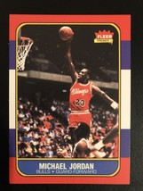 1986-1987 Fleer - Michael Jordan - Chicago Bulls - REPRINT - RC - $3.47