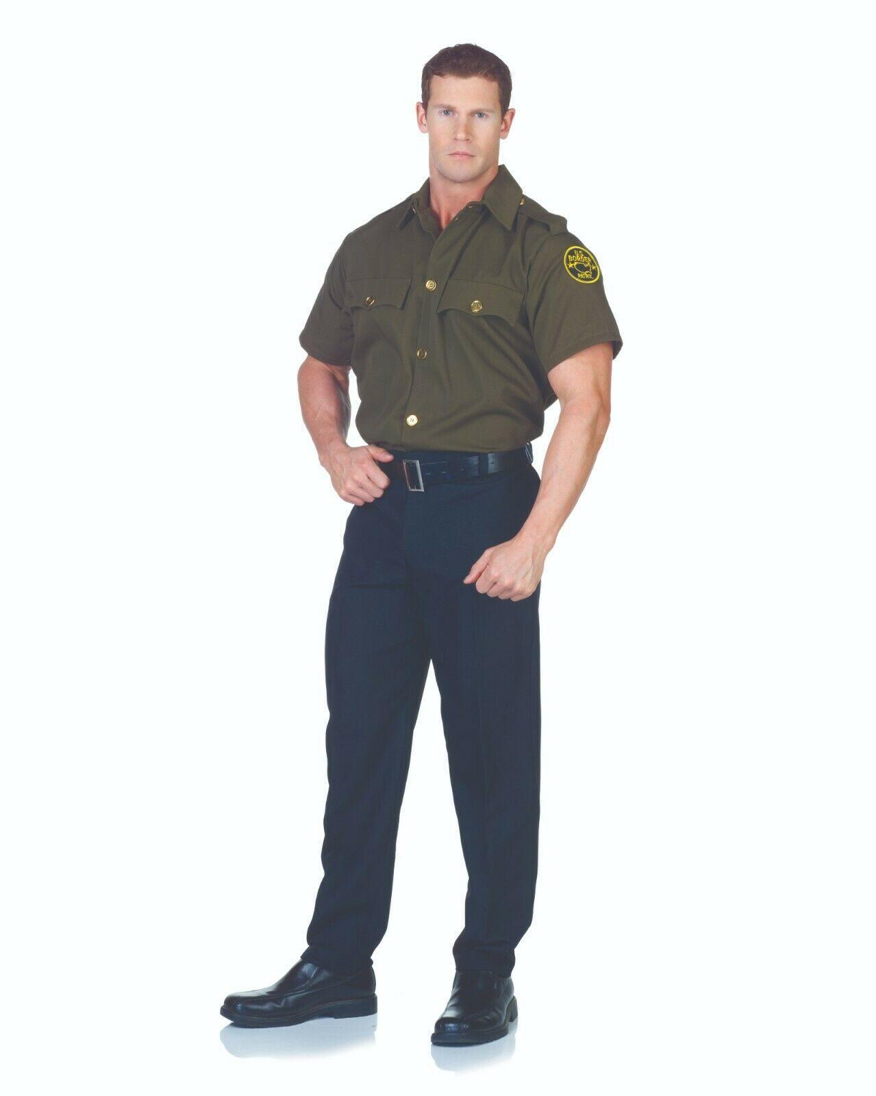Underwraps Frontera Patrulla Oficial Uniforme Camisa Hombre Adulto Halloween - $21.02 - $24.18
