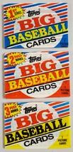 1988 Topps Big Baseball Cards Lot of 3 (Three) Sealed Unopened Packs - $9.78