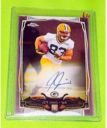 NFL JEFF JANIS GREEN BAY PACKERS AUTOGRAPHED 2014 TOPPS CHROME ROOKIE MINT - £2.83 GBP