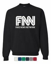FNN Funny Parody Crew Neck Sweatshirt Fake News Trump President - $14.73+
