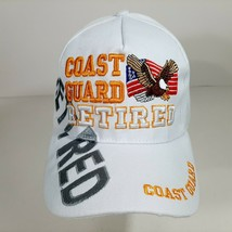 United States Coast Guard Retired Men's Ball Cap White Embroidered Acrylic - $12.37