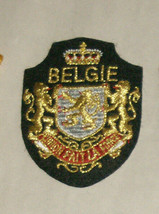 """Belgie Fait La Force 3"""" Embroidered Sewn World Travel Patch - $14.22"""