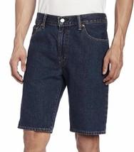 Levi's 505 Men's Premium Cotton Regular Fit Dark Denim Stonewash Shorts 505-2114