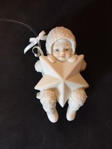 Snowbabies Dept 56 Snow Baby with a Star on Swing Sweet Face - $8.00