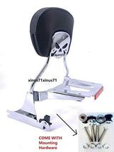 MyLohas Detachable Skull Backrest Sissy Bar Luggage Rack with Docking for Harley - $198.99