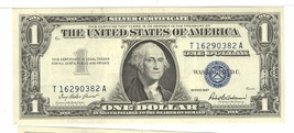 2 1957 $1 DOLLAR SILVER CERTIFICATE T16290382 A  IN SEQUENCE 383 A - $24.75