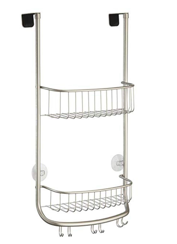 InterDesign Over Door Shower Caddy Storage Shelve Satin Nickel