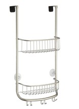 InterDesign Over Door Shower Caddy Storage Shelve Satin Nickel - $35.79