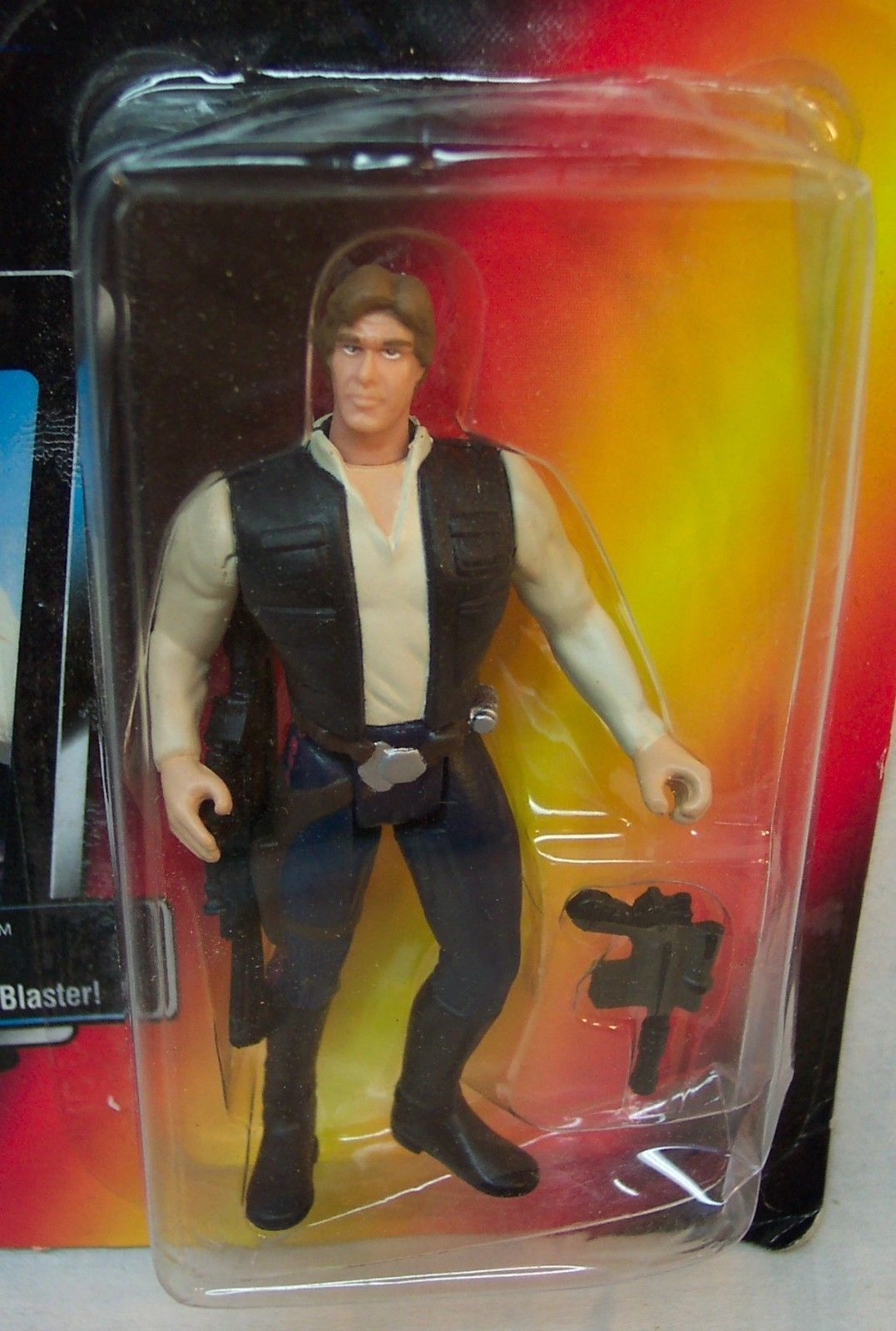 VINTAGE Star Wars The Power Of The Force HAN SOLO Action Figure Toy 1995 Red NEW