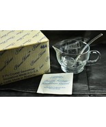 Princess House 464 Crystal Sauceboat Gravy Boat & Ladle Box Paperwork - $48.19
