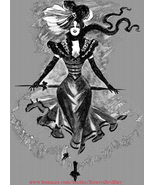 Victorian French lady burlesque dancer printable art png jpg digital dow... - $2.99