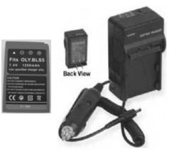 1250mAh Battery + Charger for Olympus PEN Digital E-P3 E-PL3 E-PM1 EP3 EPL3 EPM1 - $25.15