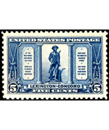 1925 5c Minute Man Statue at Concord, Daniel Chester Scott 619 Mint F/VF NH - $32.50