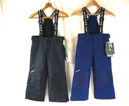 NWT Kamik Kids Black or Navy Blue Waterproof Ski Snow Bib Pants 4, 5, 6 - $29.99