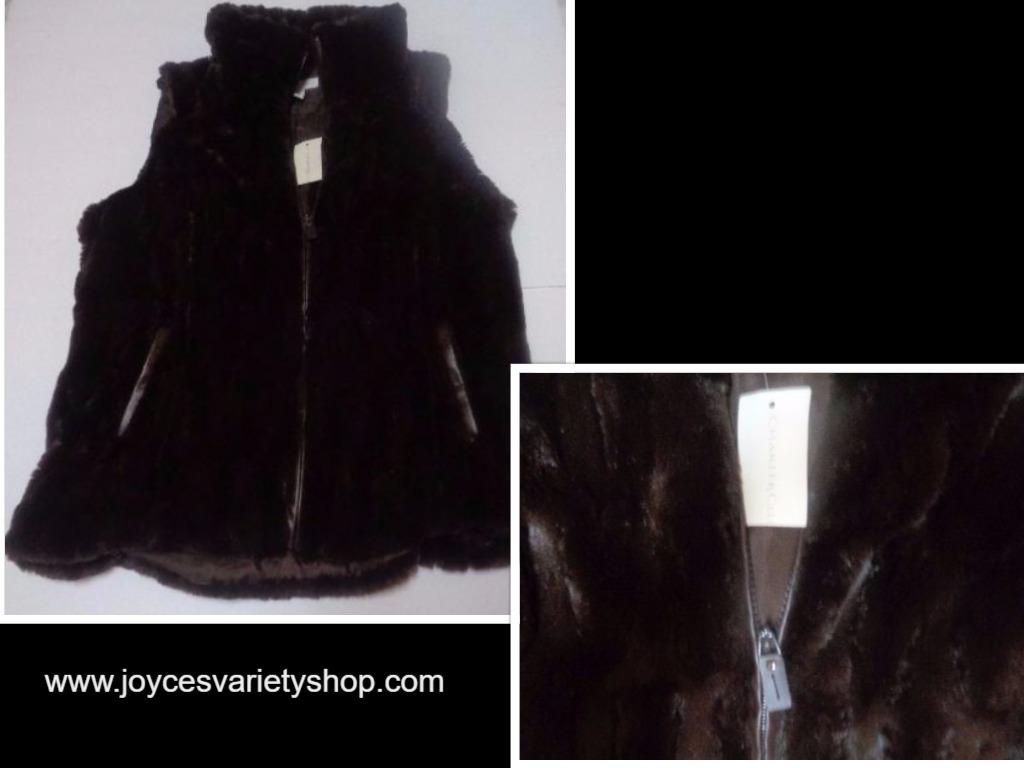 Charter club brown vest faux fur collage 2017 05 13