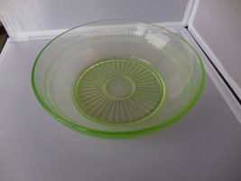 """Hocking Depression Glass Bowl Green """"Roulette"""" pattern ca, 1930s - $22.00"""