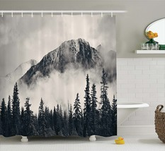 Memory Home National Parks Home Decor Shower Curtain Mountain Waterproof Polyest - $37.69