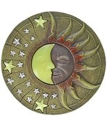 Circular Moon & Sun Celestial Glow in The Dark Stepping Stone Garden Art - $17.99