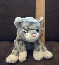 Ty Beanie Baby Silver The Grey Tabby Cat MWMT Retired Plush Toy  - $4.94