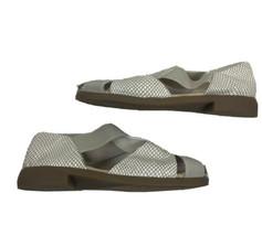 Aerosoles 4 Give Women's Size 8 Tan Creme Leather Fisherman Sandals - $39.59