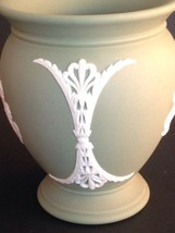 "Wedgwood Jasperware Sage Green Vase 73 England 4"" - $18.46"
