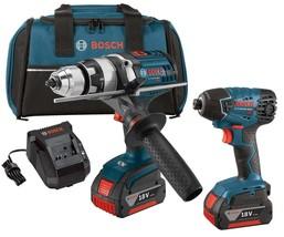 BOSCH Cordless Combo Kit,18.0 V,2 Tools,2 Batteries CLPK222-181 - $388.00