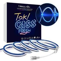 LynkNova led neon Signs 12V Blue Flexible Waterproof 2M 2835 240LEDs DIY... - $14.45