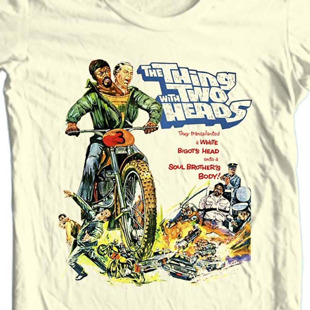 The Thing With Two Heads T-shirt classic B-Movie sci fi Grindhouse film tee