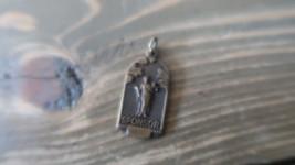 Antique 3cm Copper SPONSOR Necklace Pendant - $12.66