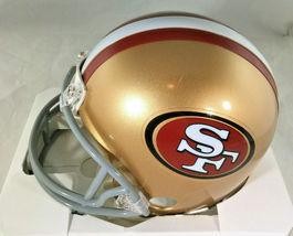NICK BOSA / SAN FRANCISCO 49ERS / AUTOGRAPHED 49ERS LOGO MINI HELMET / COA image 3