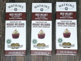 *3 Pack* Watkins Red Velvet Flavor Extract 2 oz Non GMO Cake Cupcakes - $21.75