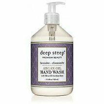 Argan Oil Hand Wash Lavender Chamomile Deep Steep 17.6 oz Liquid - $15.23