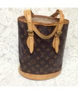 Louis Vuitton, Brown Mono PM Bucket Handbag (SR1928) - $375.20