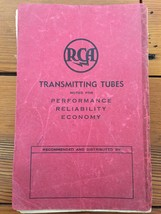 Vtg 1930s RCA Transmitting Tubes Performance Reliability Economy Manual ... - $39.99