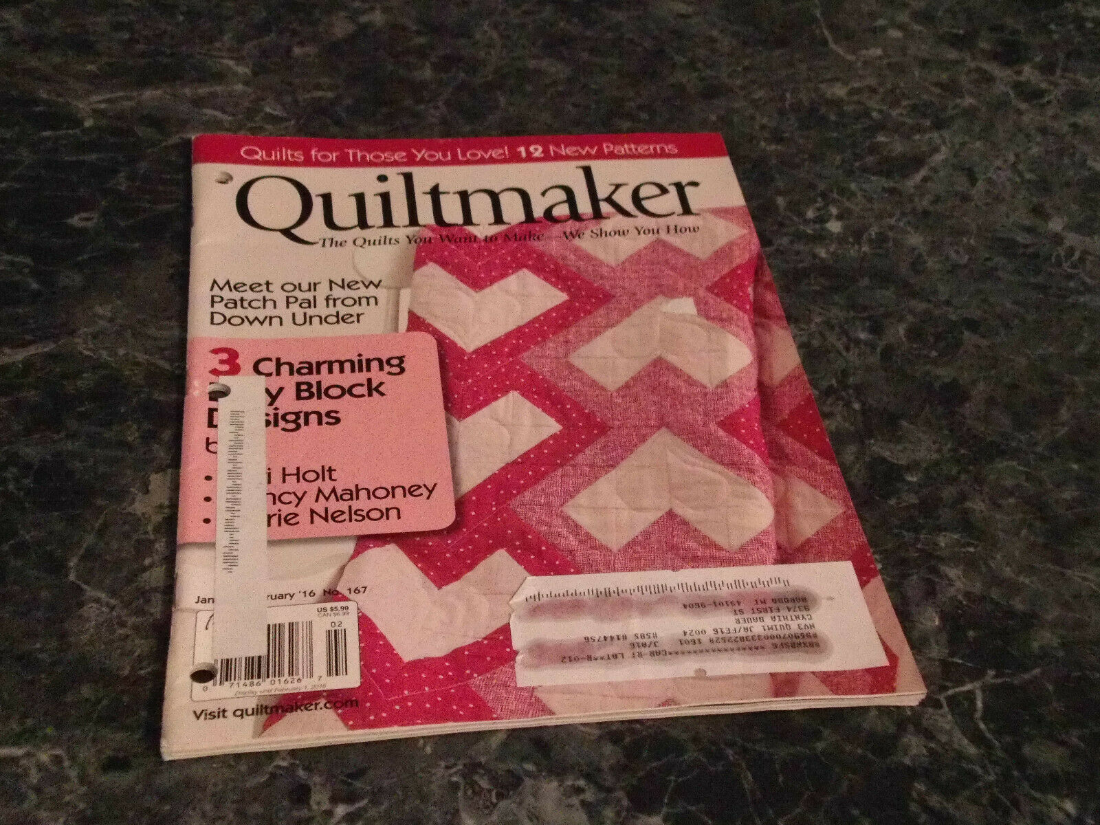 Quiltmaker The Quilts you want to Make January February 2016 No 167 Prairie Sky - $2.99