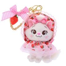 Disney store Japan Aristo cat Marie strawberry key chain mascot Doll fru... - $86.13