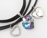 Es pendants vintage heart crystal from swarovski high quality 3 choker chain black thumb155 crop